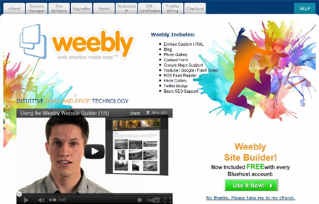 Weebly with Bluehost